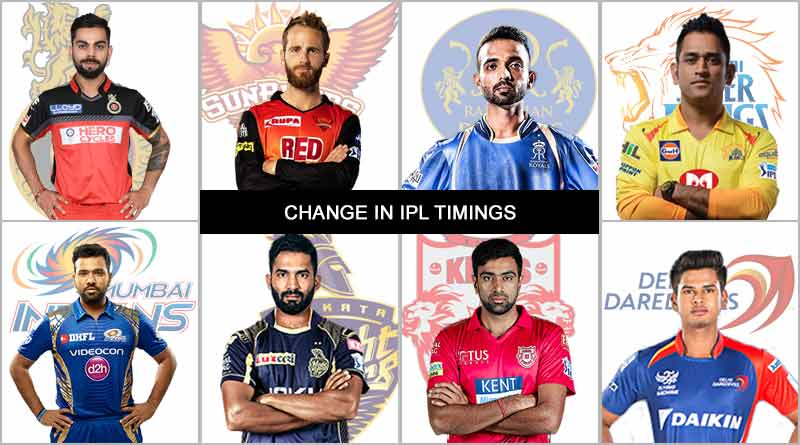 change in ipl timings