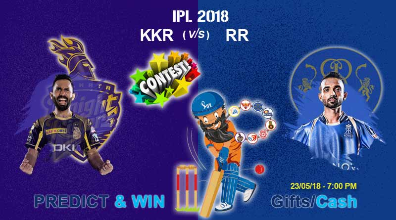 kkr vs rr eliminator today ipl match