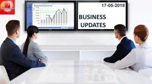 Latest India Business News Headlines 17th May 2018
