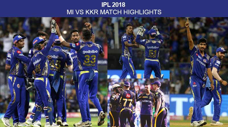 mi vs kkr match highlights