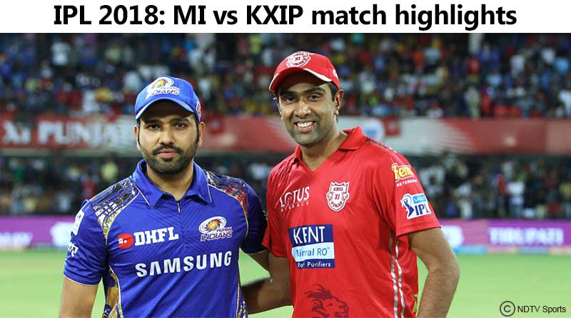 mi vs kxip match highlights