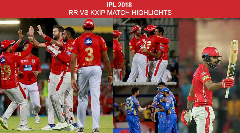 rr vs kxip match highlights