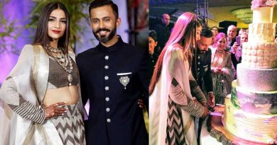 sonam kapoor wedding reception pics