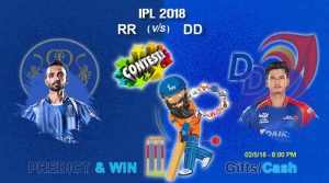 Match 32: IPL 2018: DD Vs RR – Who will win the IPL match today?