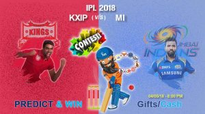 Match 34: IPL 2018: KXIP VS MI – Who will Win the IPL Match Today?