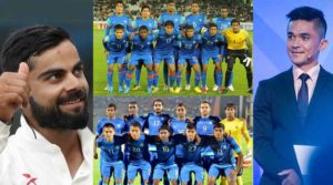 Kohli And Chhetri Request Indians to Support Indian Football Team