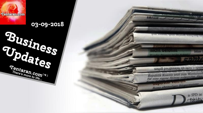 India business news headlines 3rd September 2018