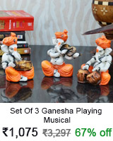 3 ganesha playing musical