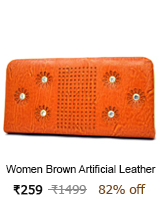 women brown leather bag