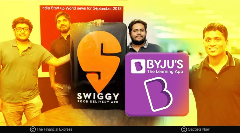 India startup world news for September 2018