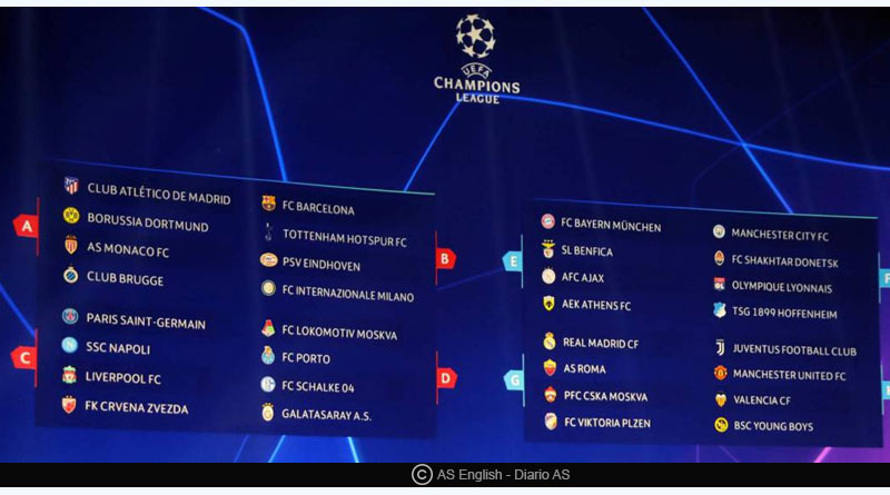UEFA Champions League matchday 3 schedule
