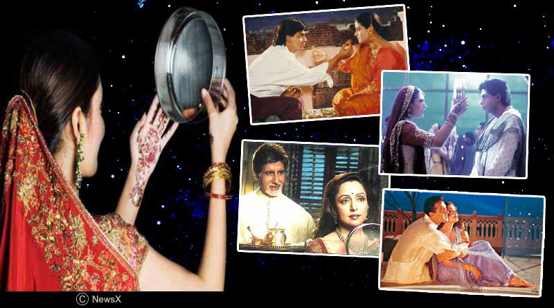 famous karva chauth scenes in bollywood movies