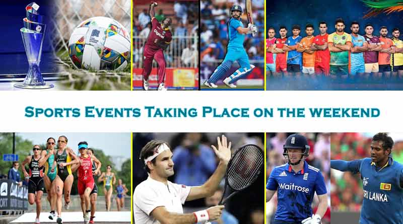 Sports events taking place on the weekend
