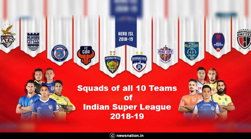 Squads of all 10 teams of Indian Super League 2018-19