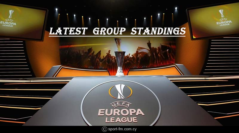 Europa League 2018-19 latest Group standings