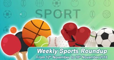 sports weekly round up from 12th November to 17th November 2018