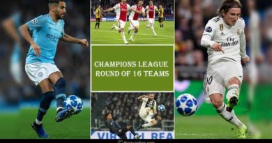 Champions League 2018-19 Round of 16 Teams