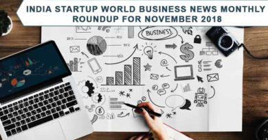 Here is the India startup World News monthly roundup for November 2018. With this monthly capsule you can know the happening of the startup world