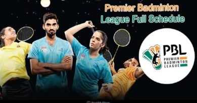 Premier Badminton League 2018-19 Full Schedule