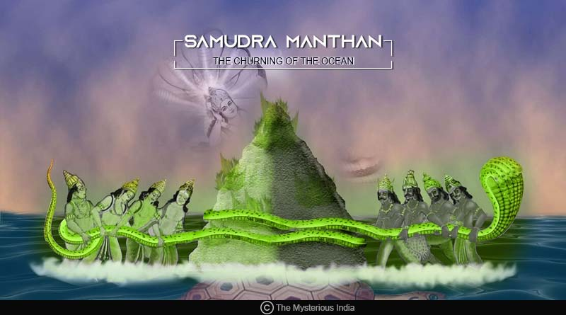 Samudra Manthan or churning of the Ocean