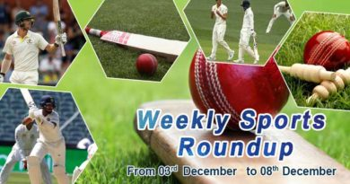 sports weekly round up from 3rd to 8th december 2018