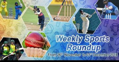 sports weekly round up from 26th November to 1st December 2018
