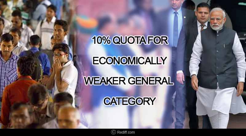 Quota For Economically Weaker General Category