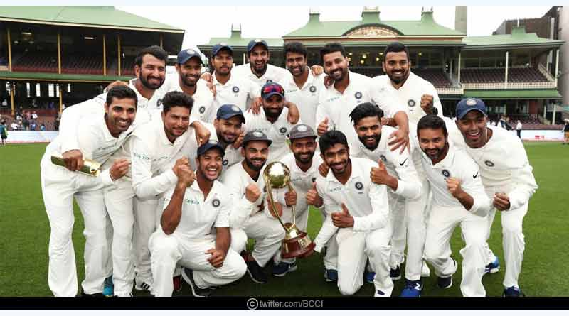 India won test series in Australia after 72 years