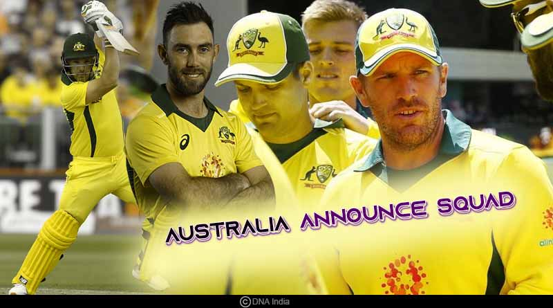 Australia Announce Squad for ODIs against India