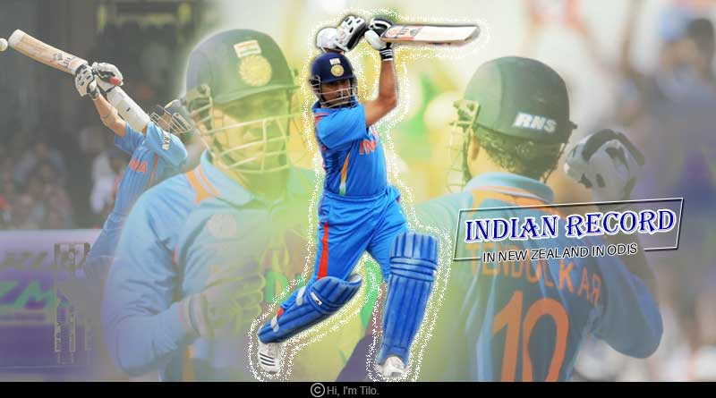 Indian record in New Zealand in ODIs
