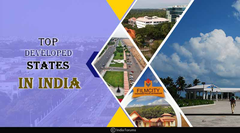 top developed states in India