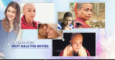 Actress who went bald for movies