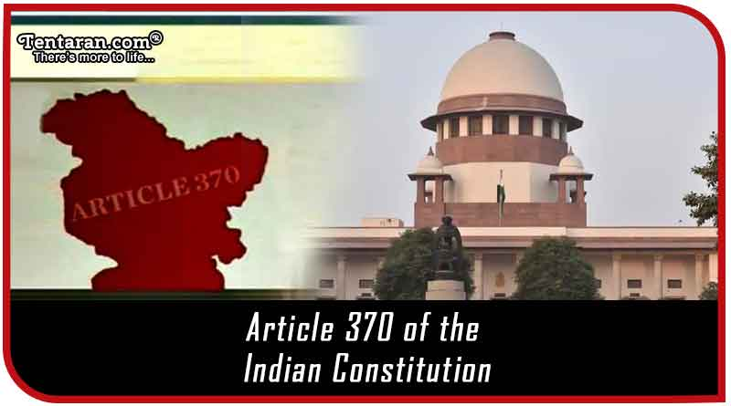 Article 370 of the Constitution of India