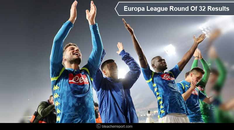 Europa League round of 32 results