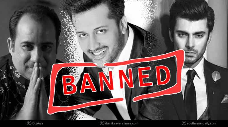 Pakistani celebrities banned in India