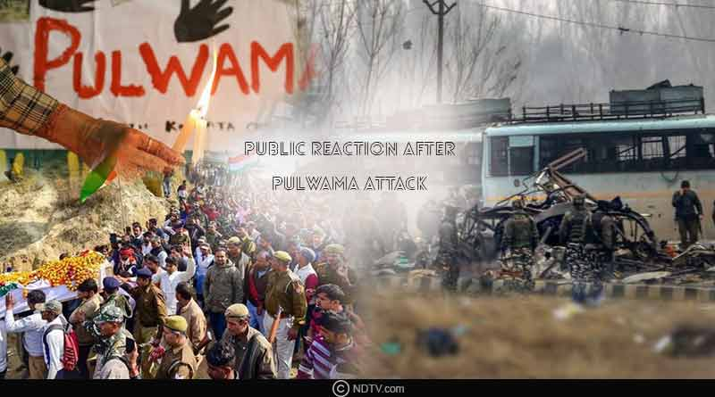 public reaction after pulwama attack