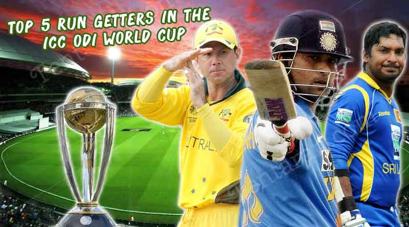 Top 5 run getters in the ICC ODI World Cup