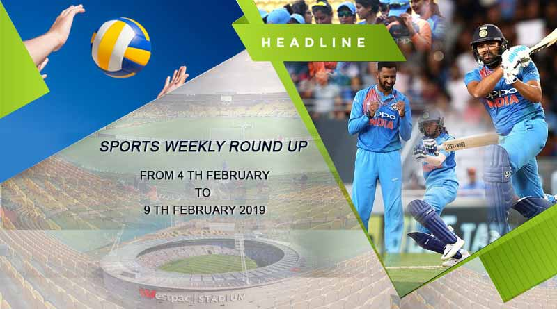 Sports weekly round up from 4th February to 9th February 2019