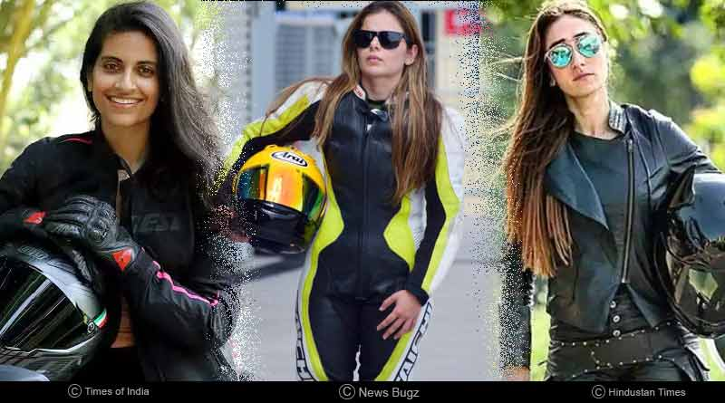 Indian female bikers of India