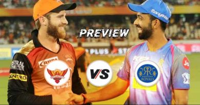 Sunrisers Hyderabad Vs Rajasthan Royals Preview