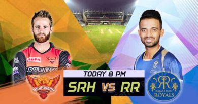 Sunrisers Hyderabad Vs Rajasthan Royals Match