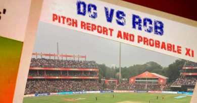 DC Vs RCB Pitch Report And Probable XI