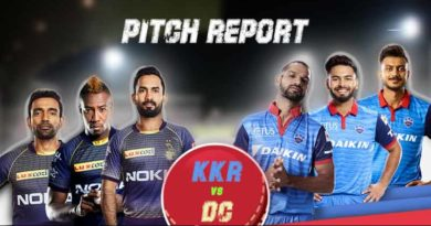 KKR Vs DC pitch report and probable XI