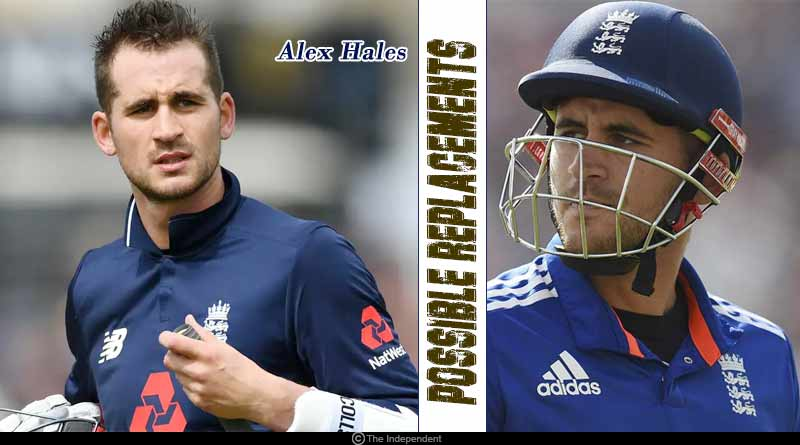 Alex Hales replacement in England World cup team