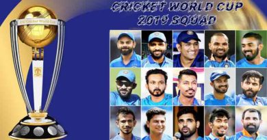 Cricket World Cup 2019 squad