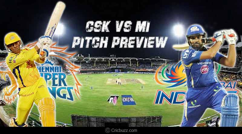 Today IPL match CSK vs MI Pitch preview