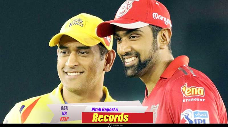 CSK vs KXIP pitch report and records
