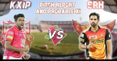 SRH vs KXIP Pitch report and Probable XI