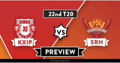 KXIP vs SRH 22nd Match