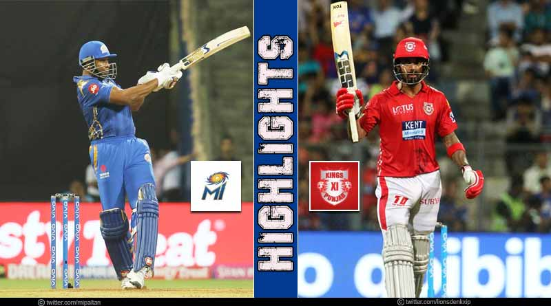MI Vs KXIP highlights